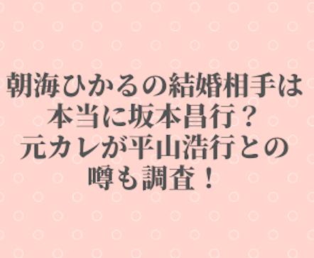 朝海ひかる 坂本昌行