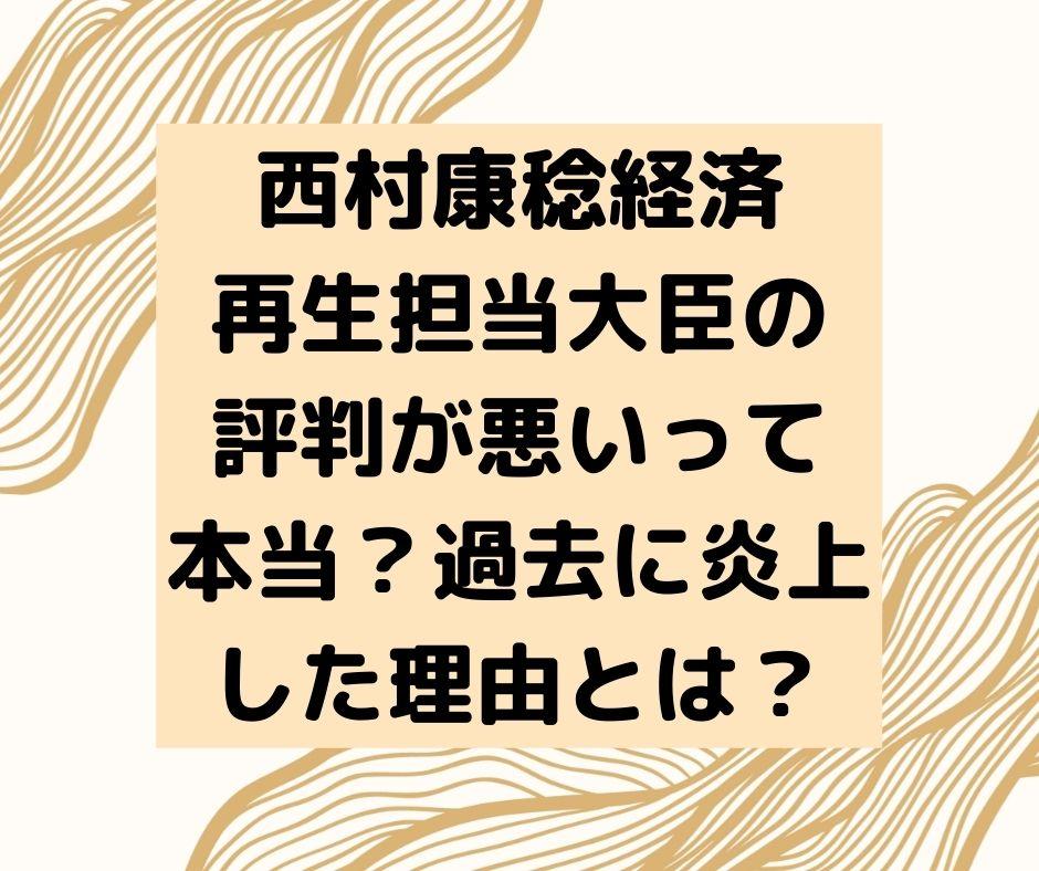 西村康稔 評判