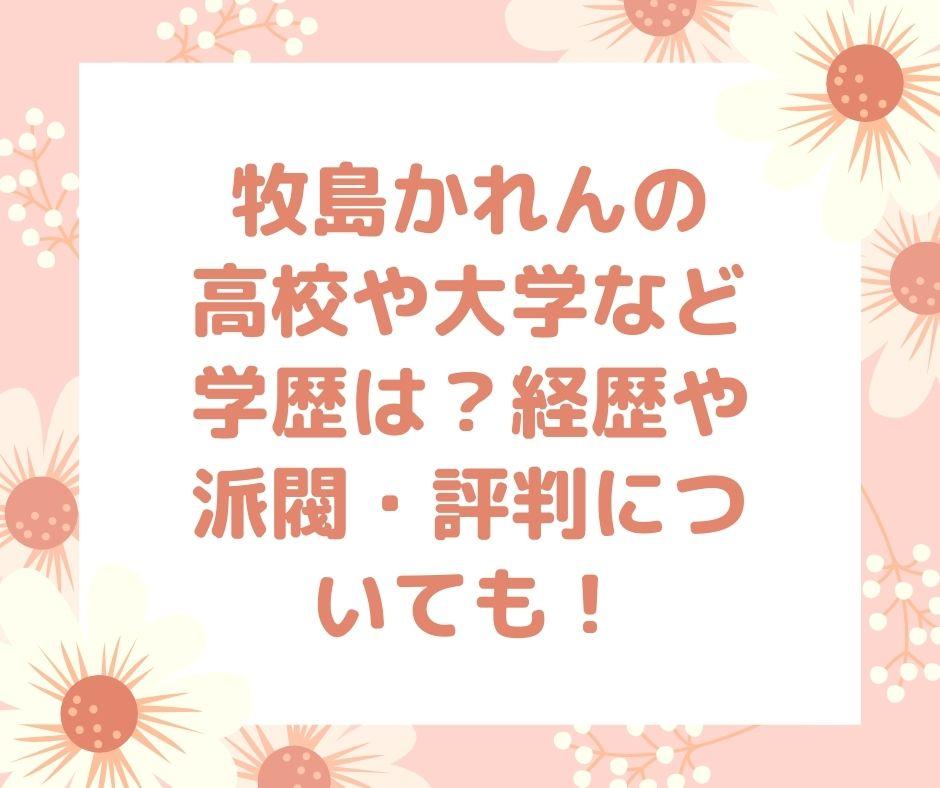 牧島かれん 学歴 経歴 派閥 評判